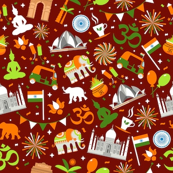 Indian seamless pattern for your design