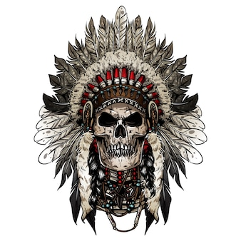 Indian skull chief