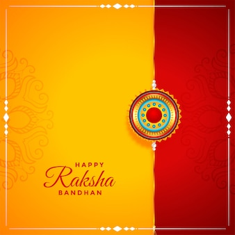 Indian style happy raksha bandhan festival greeting