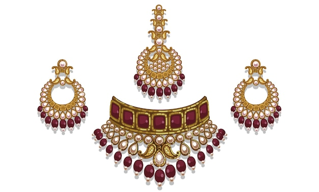 Indian style jewelry set
