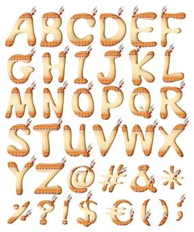 Lettere di stile indiano dell'alfabeto