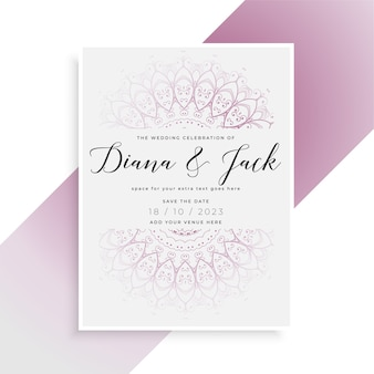Indian style wedding card template design