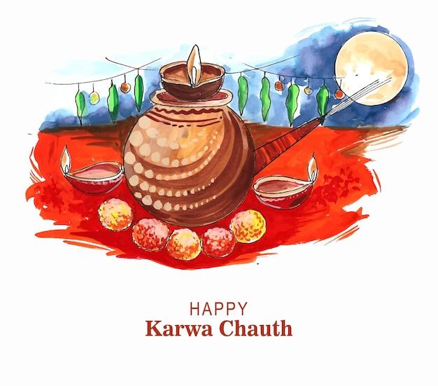 Festival tradizionale indiano felice sfondo karwa chauth