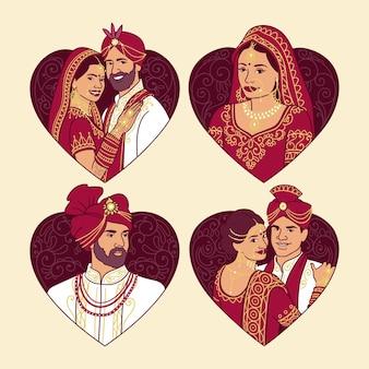 Индийская свадебная коллекция персонажей