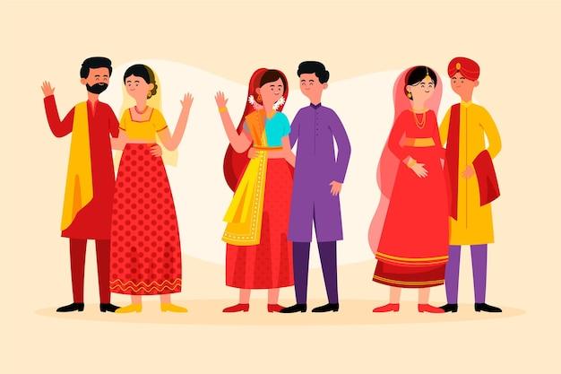 Indian wedding character set