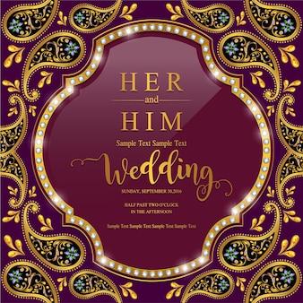 Indian wedding invitation card templates.