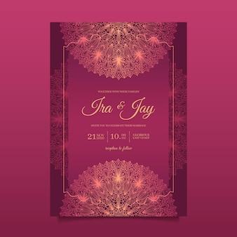 Indian wedding invitation template