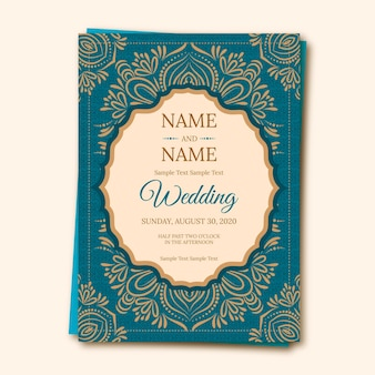 Indian wedding invitation template