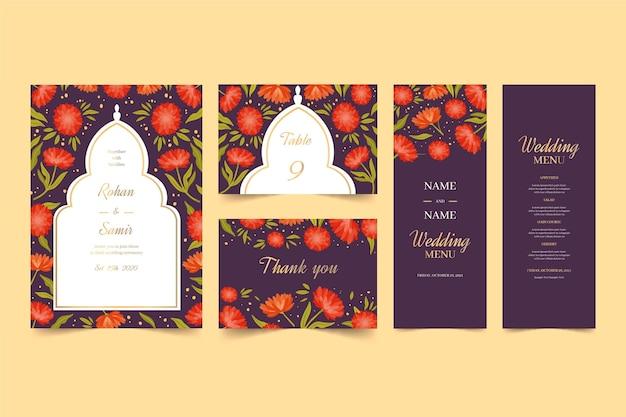 インドの結婚式の文房具