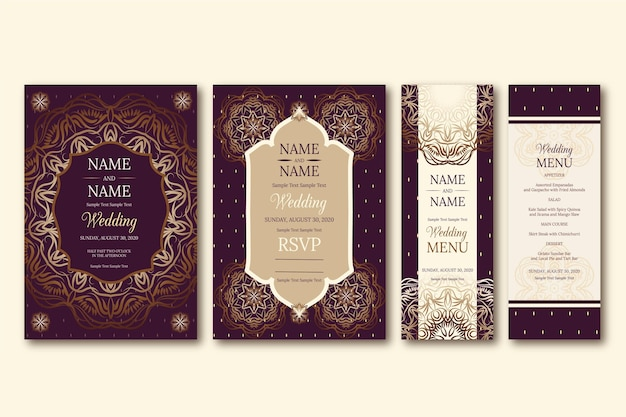 Indian wedding stationery template