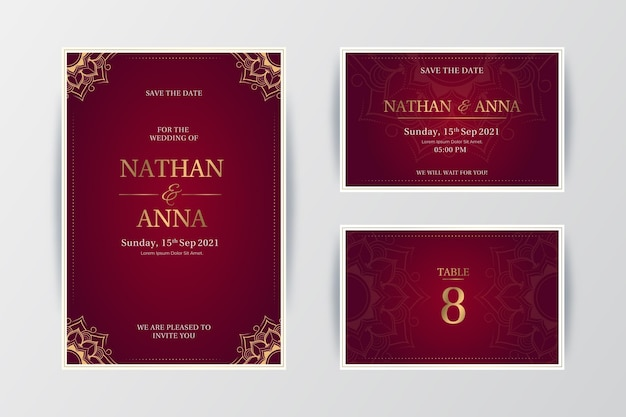 Indian wedding stationery