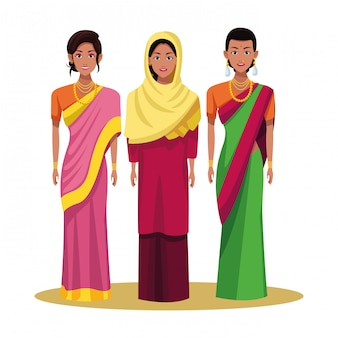 Indian woman avatar cartoon character