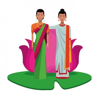 Indian women avatar cartoon character