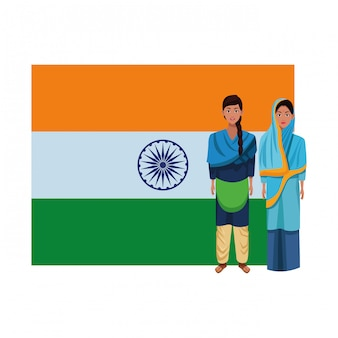 Indian women avatar cartoon character