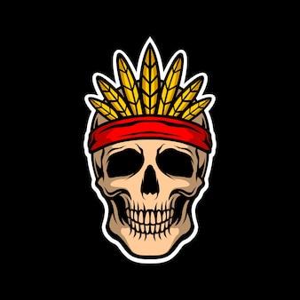 インディアナ頭蓋骨の頭