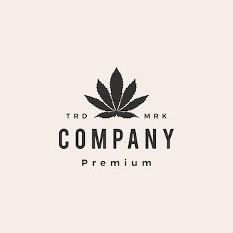Indica cannabis hipster vintage logo