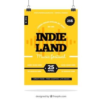 Manifesto del festival indiano con design piatto