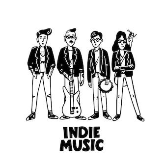 インディーロック音楽バンド