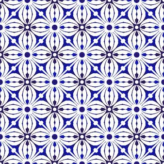 インディゴモダンなシームレスパターン
