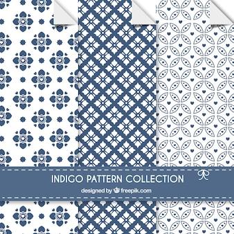 Indigo patterns collection