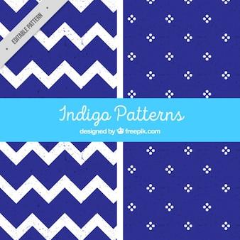 Indigo patterns