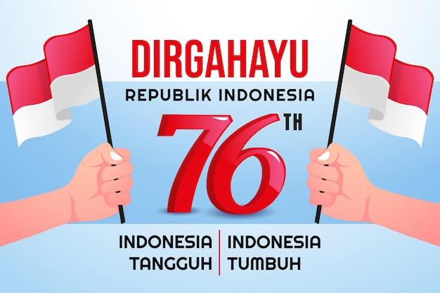 Indonesia 76th independence day hari kemerdekaan indonesia ke 76