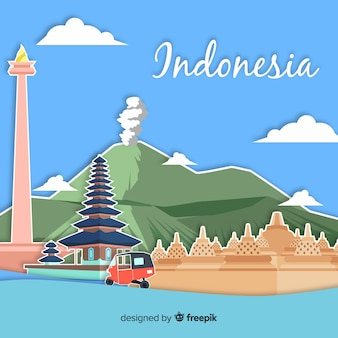 Indonesia background