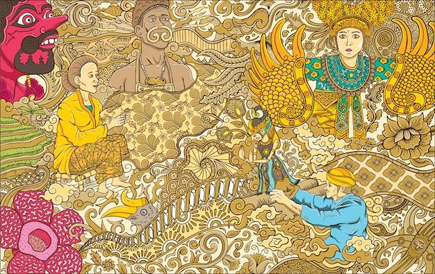 Indonesia culture illustration