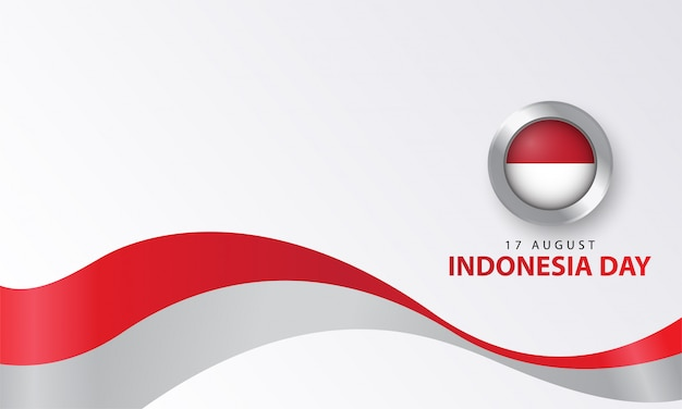 Indonesia day with realistic style