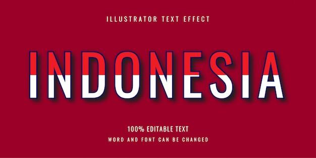 Индонезия - дизайн с редактируемым текстовым эффектом