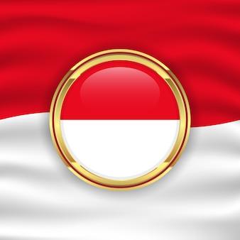 インドネシア独立記念日のイラストのインドネシア国旗背景コンセプト