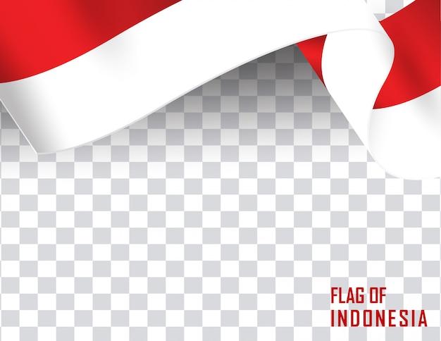 Indonesia flag ribbon shape