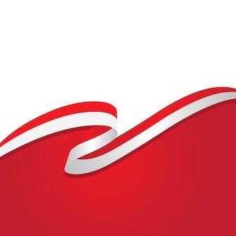 인도네시아 국기 벡터 일러스트 디자인 서식 파일