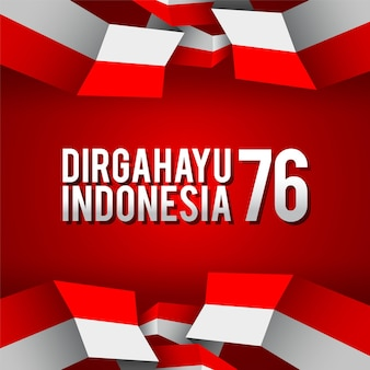 Indonesia independence day 76 vector illustration