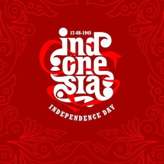 Indonesia independence day tempelate design