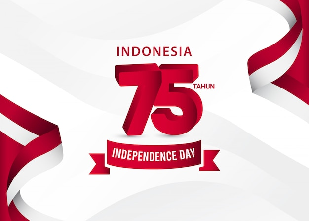 Indonesia independence day template. design for banner, greeting cards or print.