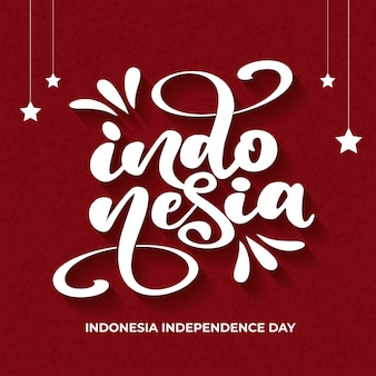 Индонезия надписи с красным фоном