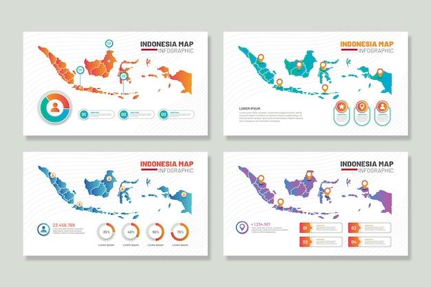 Инфографика карты индонезии