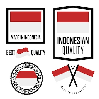 Indonesia quality label set