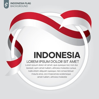 Indonesia ribbon flag vector illustration on a white background