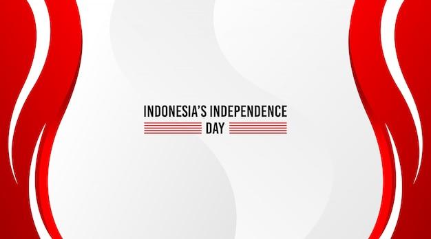 インドネシアの独立記念日の背景。赤と白の抽象的な背景
