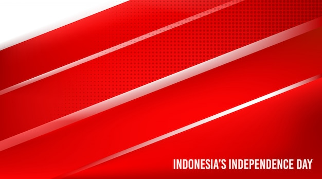 Indonesia's independence day background vector