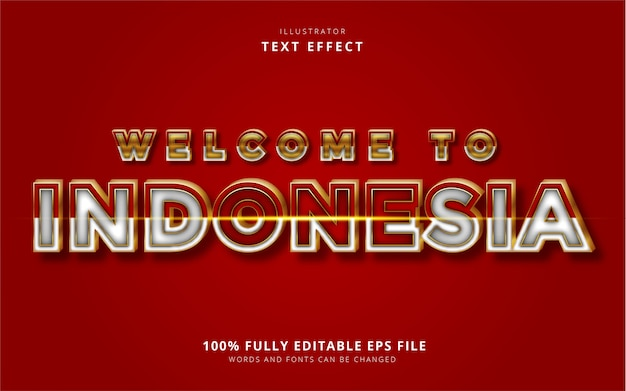 Текстовый эффект индонезии