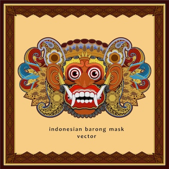 Indonesian barong mask