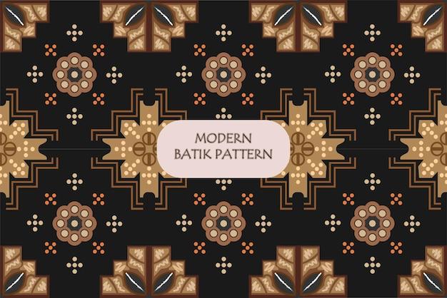 인도네시아 바틱은 천 전체에 왁스레스트 염색을 하는 기법으로 모던 바틱 패턴입니다.