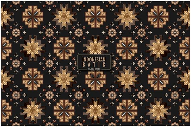 현대적인 색상 디자인의 인도네시아 바틱 모티프