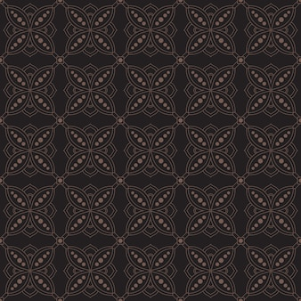 Indonesian geometric batik seamless pattern background template