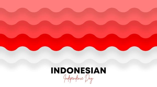 День независимости индонезии фоновой иллюстрации вектор