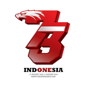 Indonesian independence day logo