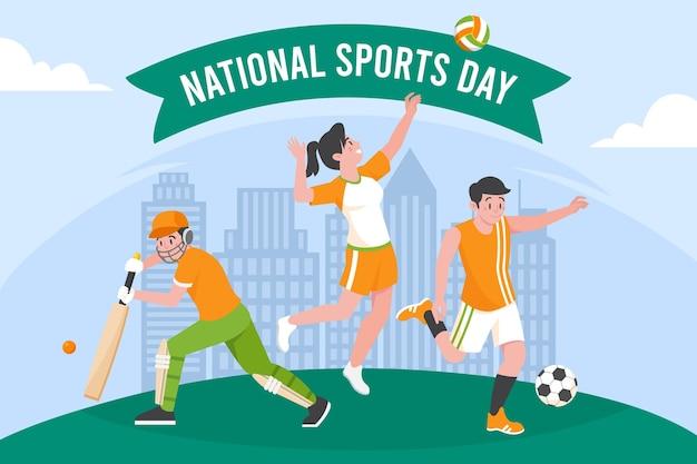 インドネシア国民体育の日イラスト